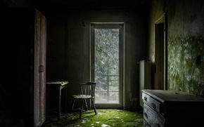 Picture room, furniture, the door