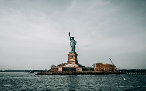 Picture freedom, statue, USA, New York