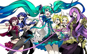 Picture anime, art, Vocaloid, Vocaloid, characters