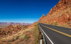 Picture USA, road, desert, asphalt