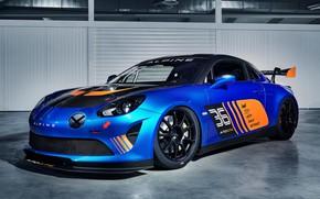 Picture racing car, 2018, Alpine, GT4, A110