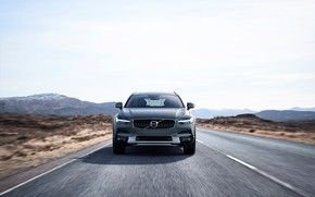 Wallpaper Cross Country, V90, Silver, 2017, Road, Drive, Universal, Volvo, Car