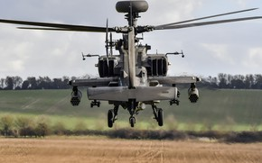 Picture helicopter, Army, With, Apache AH1, WAH-64 ZJ182, Air Corps