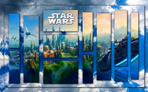 Picture the sky, star wars, Falcon