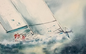 Picture sea, yacht, sail