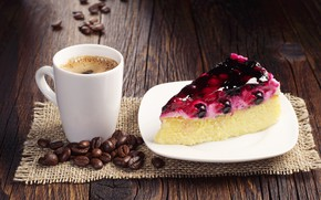 Picture Coffee, Coffee beans, Cake