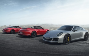 Picture Red, Silver, Carrera 4 GTS Cabriolet, 911 Targa 4 GTS, 911 Carrera 4 GTS