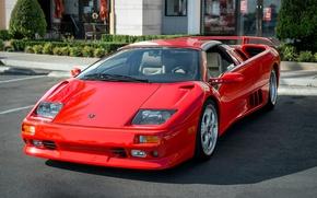 Picture supercar, Red, Lamborghini Diablo