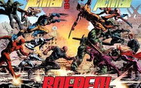 Picture Wolverine, comic, comics, Marvel Comics, Daredevil, Spider-Man, Ms. Marvel, Iron fist, Luke Cage, Norman Osborn, …