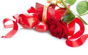 Wallpaper Valentine's day, rose, heart, flower, colorful, rose, gift, Valentine's Day, heart, gift, box, tape