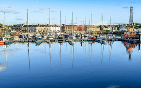Picture the sky, the sun, home, yachts, UK, boats, harbour, Wick Harbour