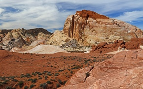 Picture landscape, mountains, stones, rocks, USA, Nevada, Valley Of Fire