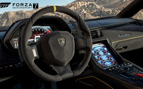 Wallpaper race, speed, Forza Motorsport, car, Lamborghini, game, Forza Motorsport 7