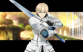Picture sword, armor, anime, Fate / Grand Order