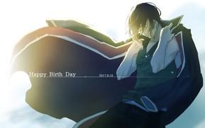 Picture anime, art, guy, cloak, Gintama, Takasugi Shinsuke