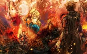 Picture kawaii, fire, flame, moon, chaos, phoenix, anime, boy, survivor, asian, children, oriental, asiatic, sugoi, bishojo, …