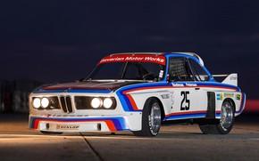 Picture The evening, Auto, Machine, BMW, Lights, German, Bavarian, BMW 3.0 CSL, BMW 3.0, BMW 3.0 …