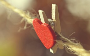 Picture macro, background, clothespin, heart