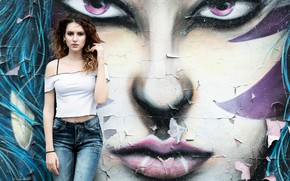 Picture style, background, graffiti, model, figure, Clear