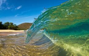 Wallpaper sea, beach, nature, tropics, the ocean, shore, wave, sunlight