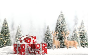 Picture decoration, holiday, New Year, Christmas, deer, Christmas, New Year