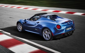 Picture rear view, racing track, 2018, Alfa Romeo 4C, Spider Italia