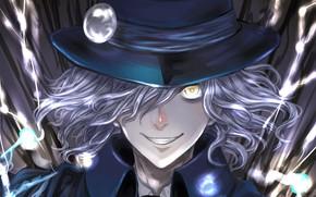 Picture look, smile, hat, anime, art, guy, madness, Avenger, Fate / Grand Order, Edmond Dantès