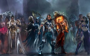 Picture axe, girl, sword, game, monster, armor, woman, power, man, ken, blade, Magic, pearls, strong, MTG, …