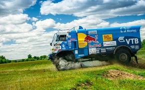 Wallpaper Race, KAMAZ, Sport, Speed, Master, Obloka, Russia, Redbull, Truck, Master, Best, KAMAZ