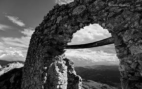 Picture arch, magic b & W photo, Monochromatic, Claudio Marinangeli