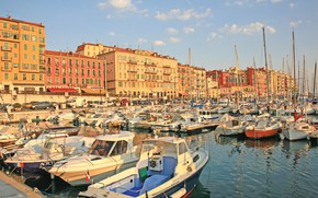 Picture the city, France, Marina, France, Cote D'azur, Nice, Mediterranean sea, NIS