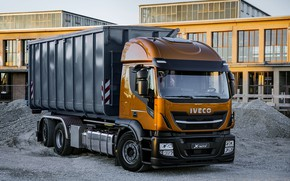Picture the building, cabin, body, crushed stone, breed, dump truck, Iveco, 6x4, Stralis X-Way, Super Loader, …