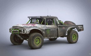 Wallpaper car, Trophy Rat, 1968 International 1200