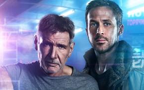Wallpaper Harrison Ford, Blade runner 2049, Blade Runner 2049, Ryan Gosling, Thriller, Ryan Gosling, fiction, Harrison ...