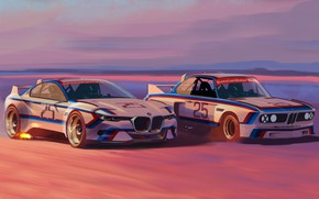 Picture Concept, Auto, Figure, Machine, BMW, Art, Hommage, Bavarian, BMW 3.0 CSL, Hommage R, BMW 3.0, ...