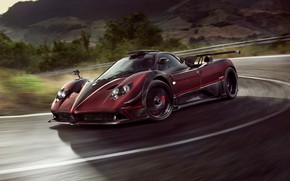 Wallpaper speed, supercar, Pagani, Zonda, 2017, Ghost Evo