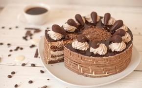 Picture chocolate, cake, cream