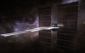 Picture stars, probe, AI Probe for Interstellar colonisation and explora, high res deployed