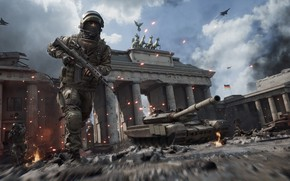 Picture war, the game, horses, soldiers, aircraft, World War 3
