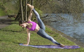 Picture girl, nature, flexibility, yoga