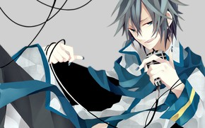 Picture microphone, guy, Vocaloid, Vocaloid, Kaito
