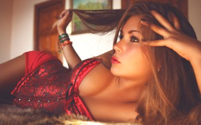 Picture pose, hair, hands, corset, Deby-Vanessa Gomes