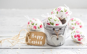 Picture flowers, Easter, happy, flowers, spring, Easter, eggs, decoration, pastel, the painted eggs