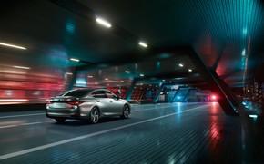 Picture auto, the city, lights, track, Night, Lexus ES 300h F SPORT
