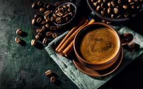 Picture Coffee, Coffee beans, Cinnamon