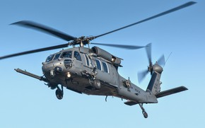 Picture the sky, helicopter, flies, Sikorsky HH-60G Pavehawk