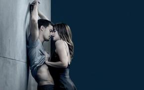 Picture love, passion, kiss, pair, Dakota Johnson, Jamie Dornan, Dakota Johnson, Fifty Shades