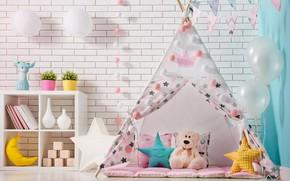 Picture toys, furniture, interior, room, child, children's room