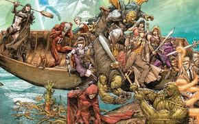 Picture Water, Boat, Comic, Cloak, Superheroes, Water, Comics, Pandora, Constantine, DC Comics, Cape, Aquaman, Zatanna, Superheroes, …