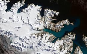 Picture photo, island, NASA, South Georgia, Atlantic, the glacier